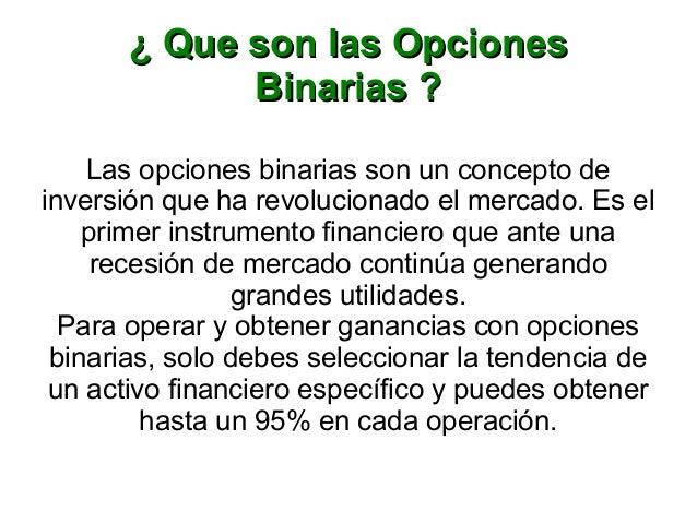 Que son las opciones binarias in the money