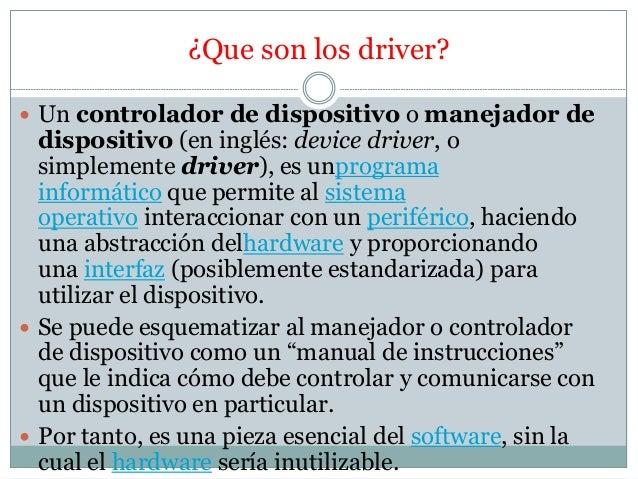 que son los drivers