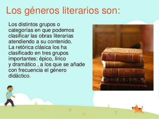 que son los g u00e9neros literarios