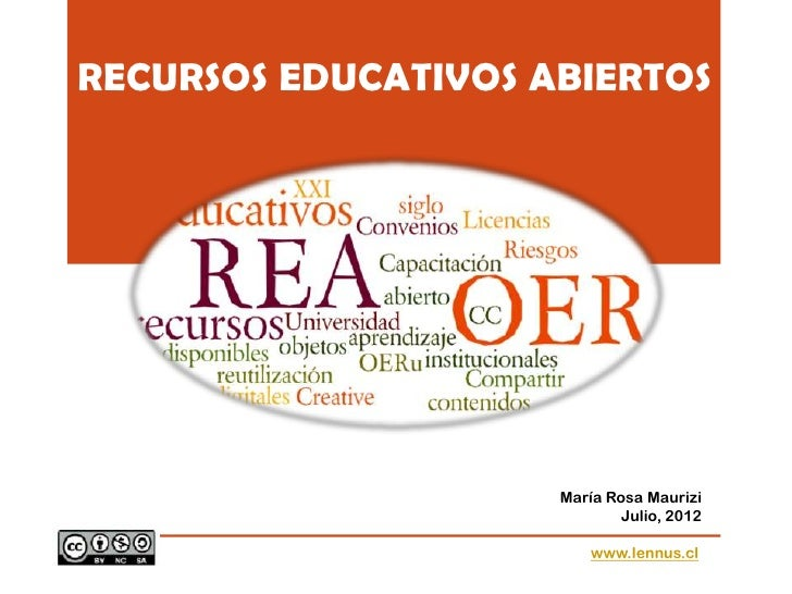 RECURSOS EDUCATIVOS ABIERTOS                     María Rosa Maurizi                             Julio, 2012               ...
