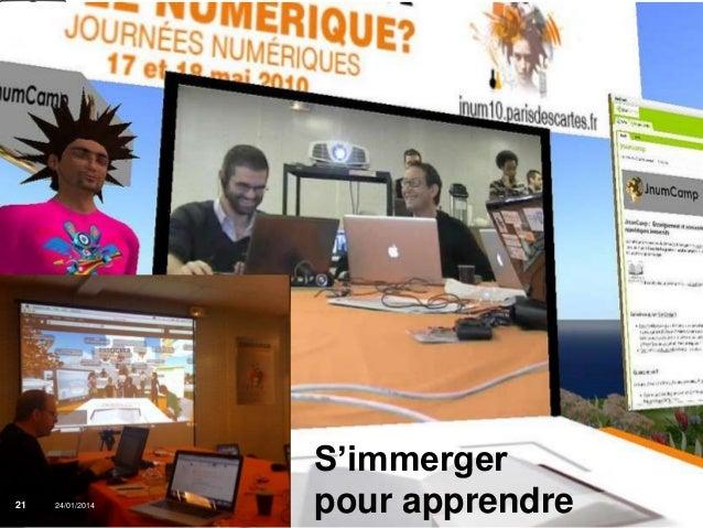 21  Que sont les 24/01/2014 MOOC ?  Institut Mines-Télécom  S'immerger pour apprendre