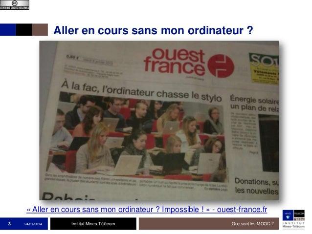 Aller en cours sans mon ordinateur ?  « Aller en cours sans mon ordinateur ? Impossible ! » - ouest-france.fr 3  24/01/201...