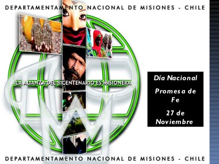 Día Nacional Promesa de Fe 27 de Noviembre