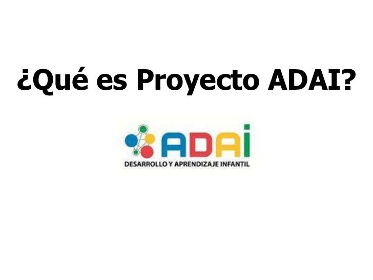 ¿Qué es Proyecto ADAI?