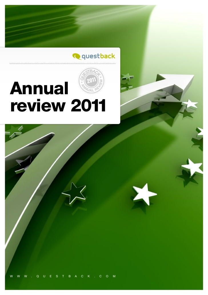 Annualreview 2011W   W   W   .   Q   U   E   S   T   B   A   C   K   .   C   O   M