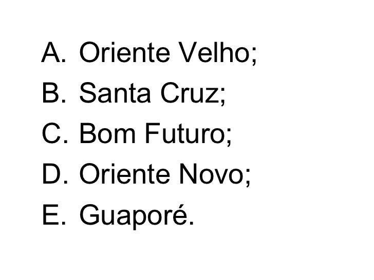 Questões Comentadas De Geografia De Rondônia 3