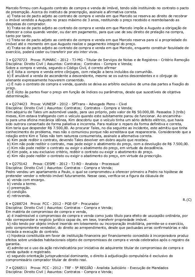 Contrato De Compra E Venda Imovel Monografia November 2019
