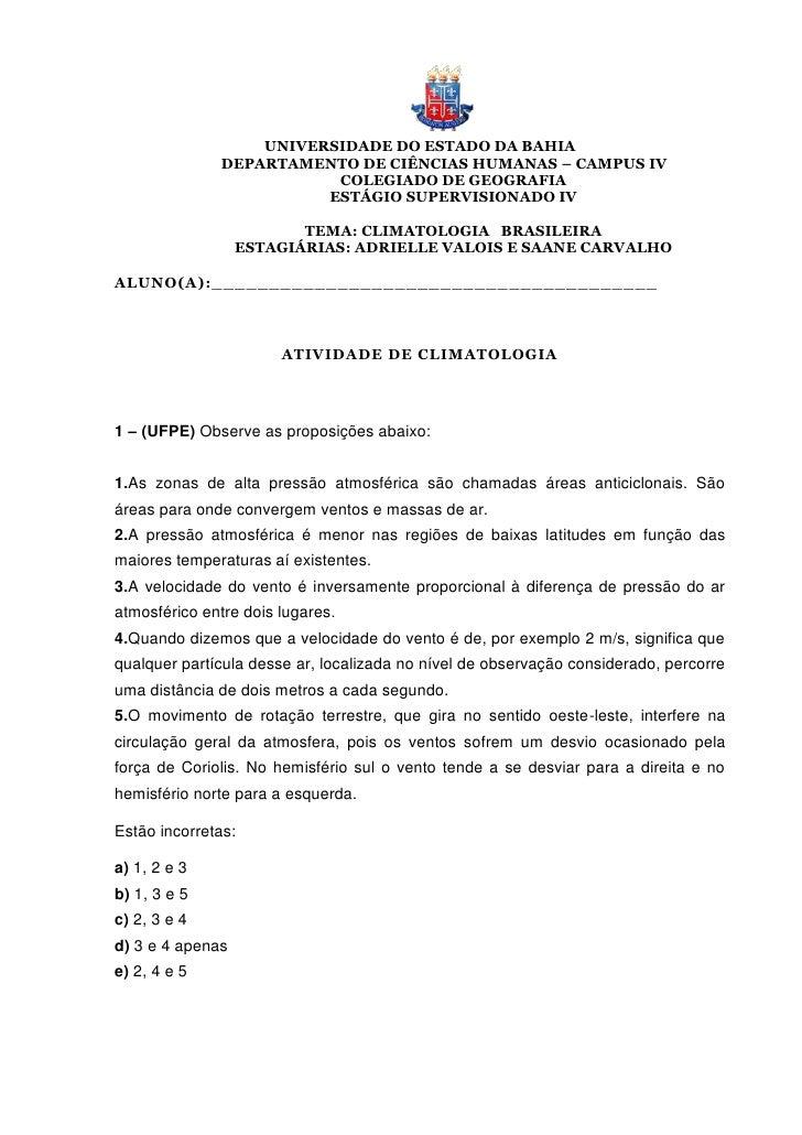 UNIVERSIDADE DO ESTADO DA BAHIA              DEPARTAMENTO DE CIÊNCIAS HUMANAS – CAMPUS IV                         COLEGIAD...