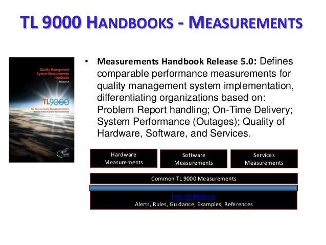 • Measurements Handbook Release 5.0: Defines comparable performance measurements for quality management system implementat...