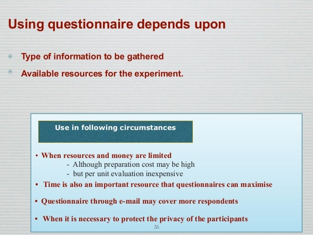 Questionnaire and its Types