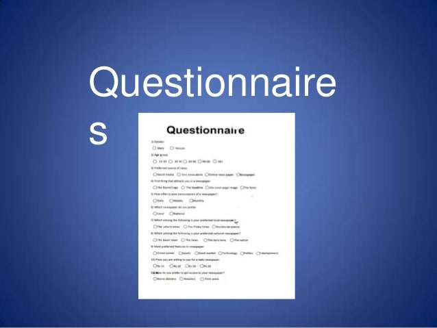 Questionnaire s