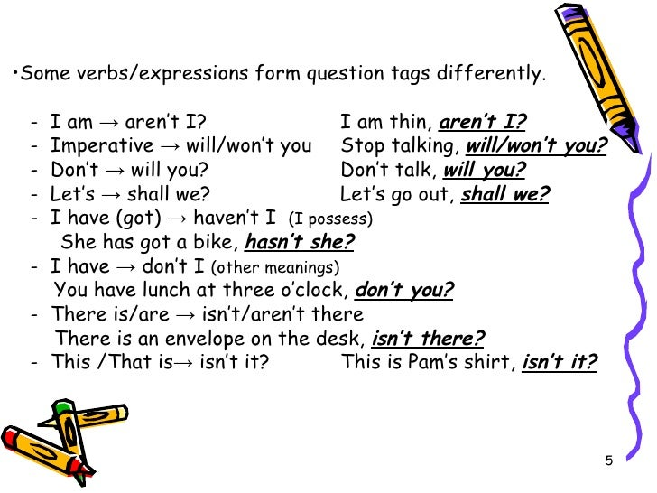 Question tags exercises pdf
