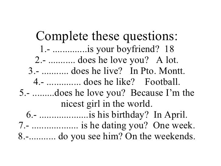 love questions for your boyfriend