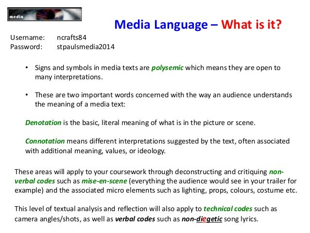 language of description examples
