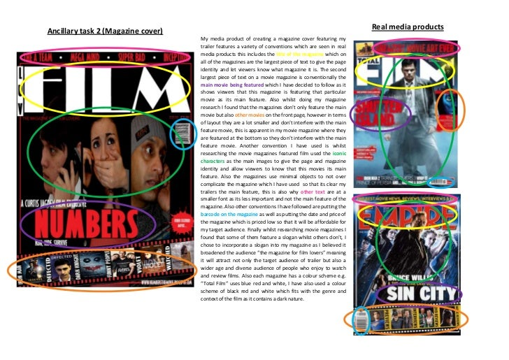 My media product of creating a magazine cover featuring my trailer features a variety of conventions which are seen in rea...