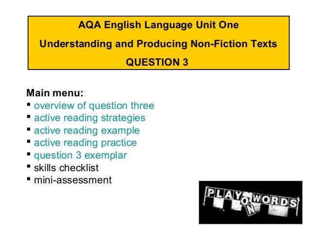 aqa gcse english oral coursework Gcse english oral presentation watch i'm on the aqa exam board oral coursework gcse english oral speech.