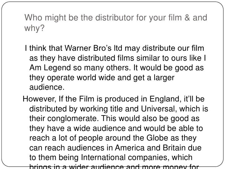 Who might be the distributor for your film & andwhy?I think that Warner Bro's ltd may distribute our film  as they have di...