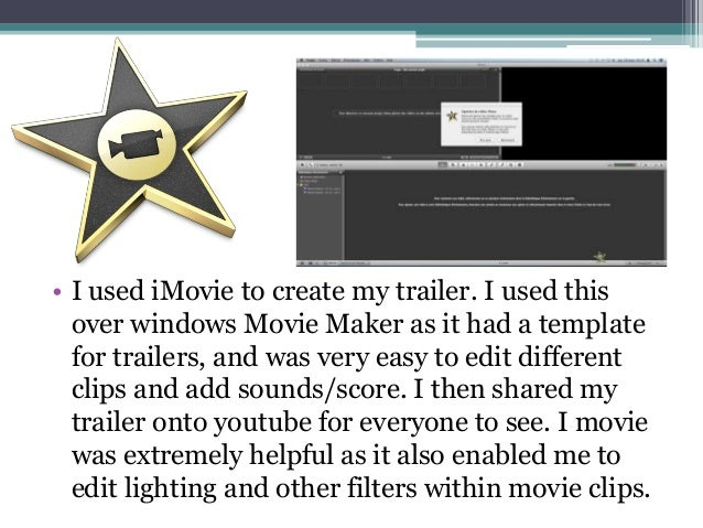 how to make a horror movie trailer on imovie
