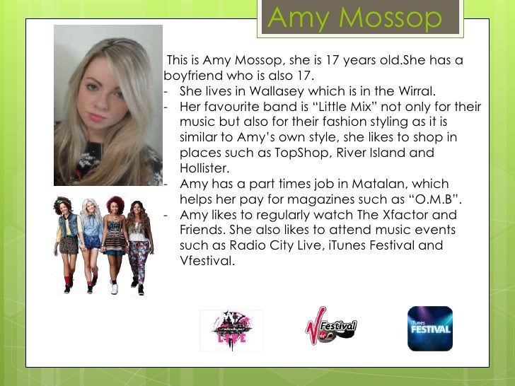 Amy Mossop This is Amy Mossop, she is 17 years old.She has aboyfriend who is also 17.- She lives in Wallasey which is in t...