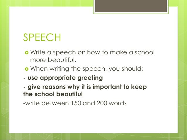 How to Write a Student Election Speech