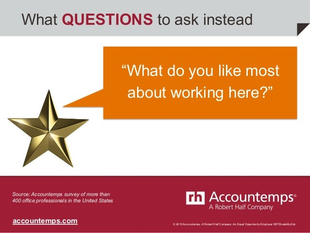 What QUESTIONS To Ask Instead; 10.