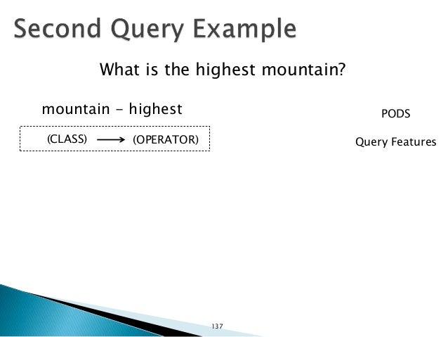 Mountain highest :Mountain Query: Linked Data: :typeOf (PIVOT ENTITY) 138