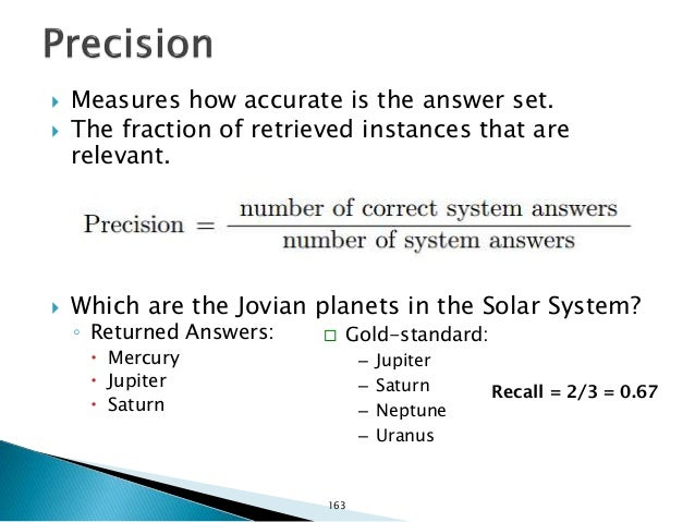  Measures the ranking quality.  The Reciprocal-Rank (1/r) of a query can be defined as the rank r at which a system retu...