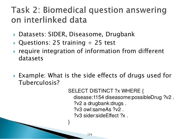  Dataset: DBpedia 3.9 (with English abstracts)  Questions: 25 training + 10 test  require both structured data and free...