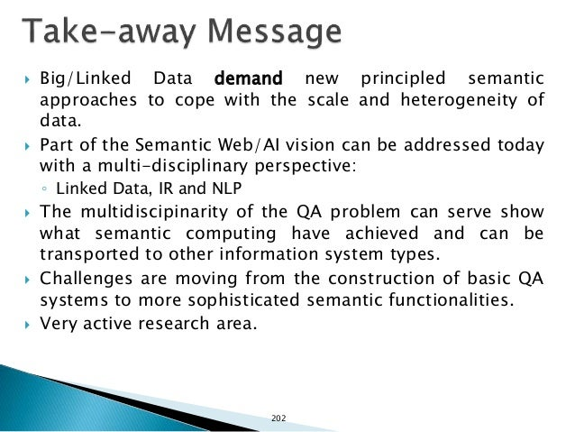  Unger, C., Freitas, A., Cimiano, P., Introduction to Question Answering for Linked Data, Reasoning Web Summer School, 20...