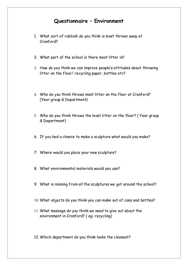 Qualitative Questionnaire