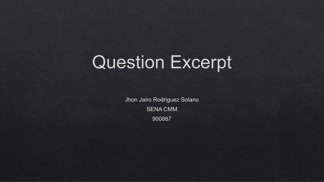 Question excerpt