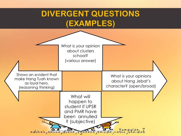 The difference between convergent and divergent thinking.