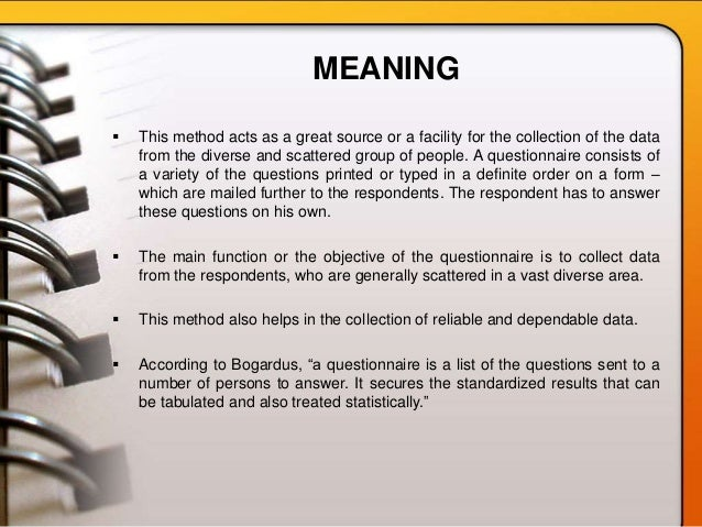 Questionnaier[ Slide 2
