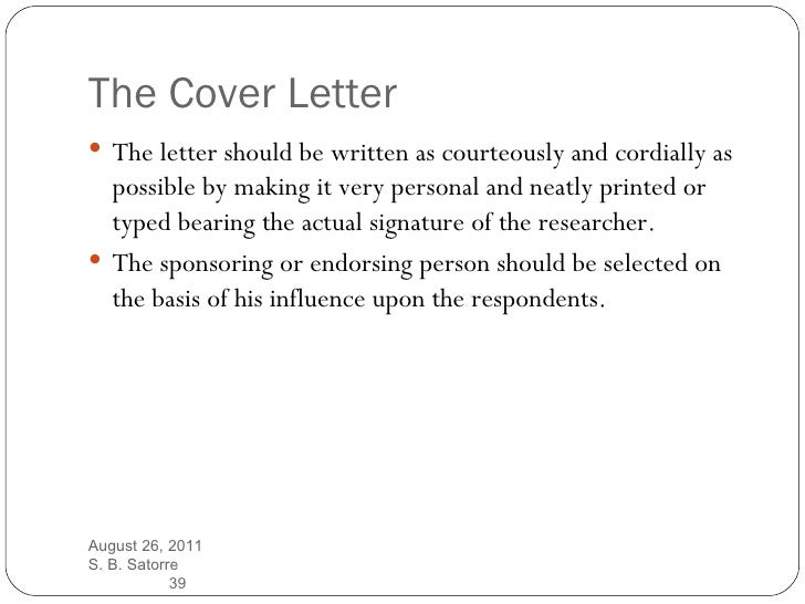 Questionnaire Cover Letter Template ] - cover letter for ...