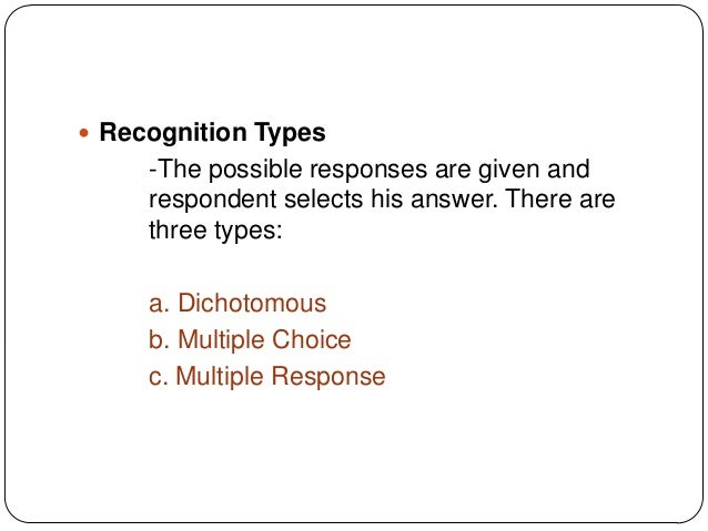 type of recognition