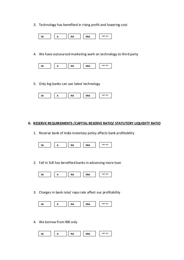 risk management questionnaire sample