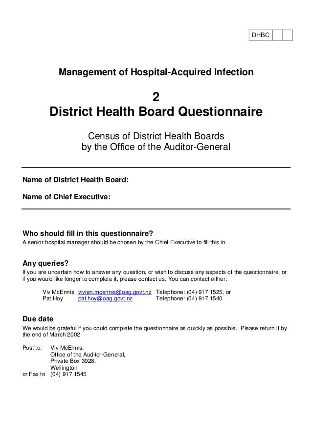 questionnaire on healthcare