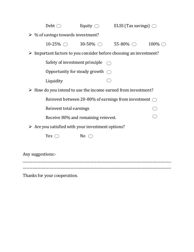 Investors attitude towards mutual fund questionnaire 2 pronofoot35fo Gallery