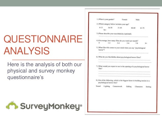 QUESTIONNAIREANALYSISHere is the analysis of both ourphysical and survey monkeyquestionnaire's