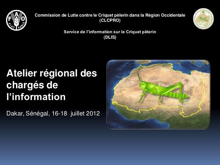 Commission de Lutte contre le Criquet pèlerin dans la Région Occidentale                                        (CLCPRO)  ...