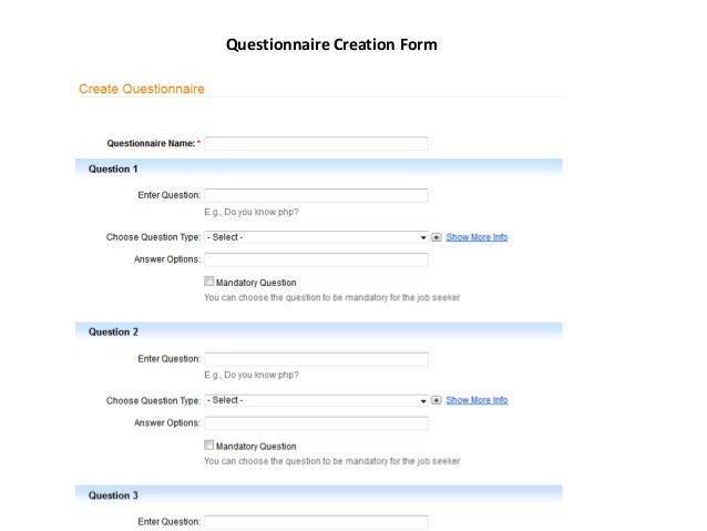 Questionnaire Creation Form
