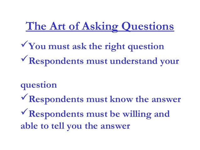 how to write a good questionnaire for research