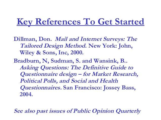 Questionnaire Design Spring2004