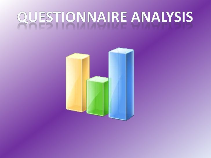 Questionnaire Analysis<br />