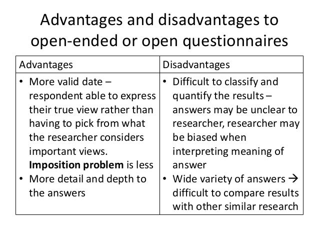limitations of questionnaires in research