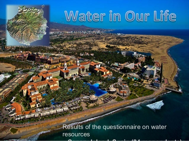 Results of the questionnaire on water resources