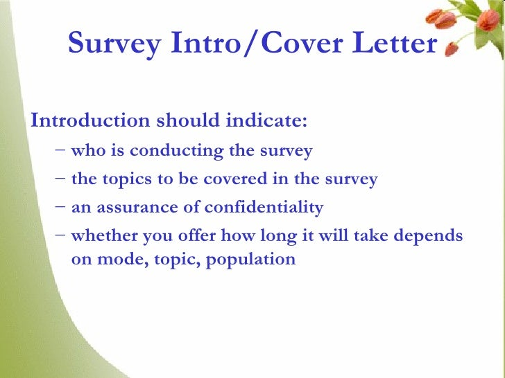 Questionnaire vinay survey introcover letter spiritdancerdesigns Image collections