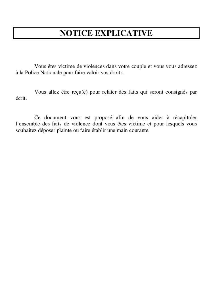 Questionnaire violences conjugales - Coups et blessures volontaires code penal ...