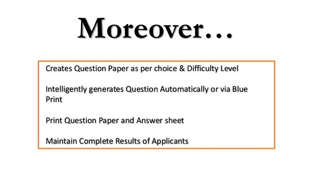 Automatic question paper generator 11 malvernweather Choice Image