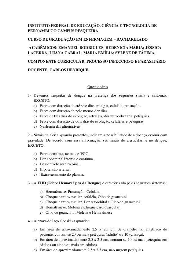 INSTITUTO FEDERAL DE EDUCAÇÃO, CIÊNCIA E TECNOLOGIA DEPERNAMBUCO CAMPUS PESQUEIRACURSO DE GRADUAÇÃO EM ENFERMAGEM – BACHAR...